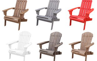Wooden Adirondack Folding Chair Range - 10 Options Available