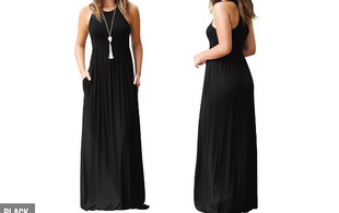 Maxi Dress - Five Colours & Sizes Available with Free Delivery