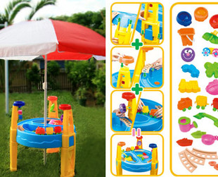 $64 for a Kids' Deluxe Sand & Water Table with Umbrella