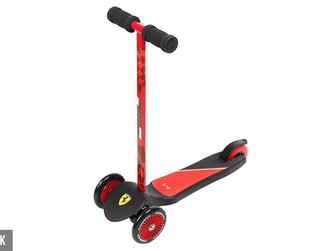 $39 for a Ferrari 3-Wheel Kick Scooter – Available in Two Colours