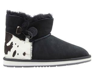 Auzland Women's 'Barbra' Cow Print Sheepskin Ankle Button UGG Boots