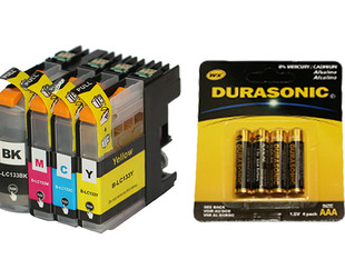 From $20 for a Set of Cartridges Compatible with HP, Brother, Epson & Canon Printers incl. Gift, & Free Shipping