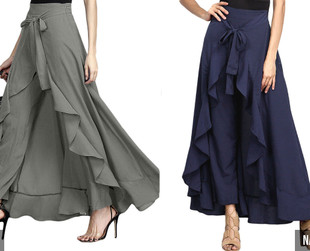 Wrap Trousers - Four Colours & Six Sizes Available