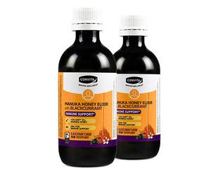 $25 for Two 200ml Bottles of Manuka Honey Elixir with Blackcurrant (value $50)
