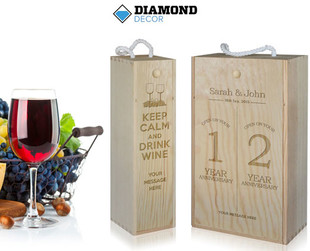 $29 for a Single Personalised Wine Gift Box or $39 for a Double incl. Nationwide Delivery