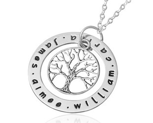 $29 for a Personalised Family Tree Necklace incl. Nationwide Delivery