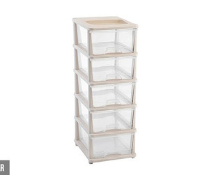 $55 for Five Drawer Plastic Storage Container or Cabinet Available in Two Styles