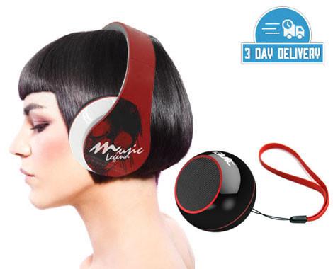 $39 for Havit Snap-Back Headphones & Portable Speaker Combo