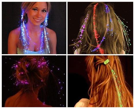 Led hair extensions led my bookmarks etekcity glow led flashing fiber lights up hair barrettes sticks pmusecretfo Choice Image