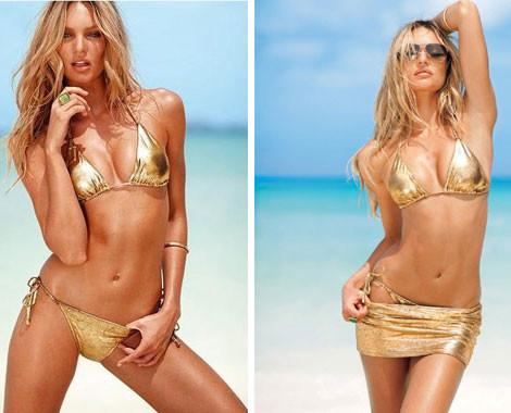 $39 for a Leopard Print Bikini, Gold Bikini with Skirt or Blue Bikini