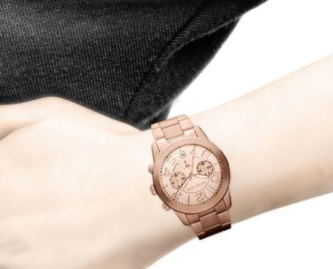 4ec2fe6296ad  329 for Michael Kors Ladies Mercer Chronograph Rose Goldtone Watch - MK5727  ...