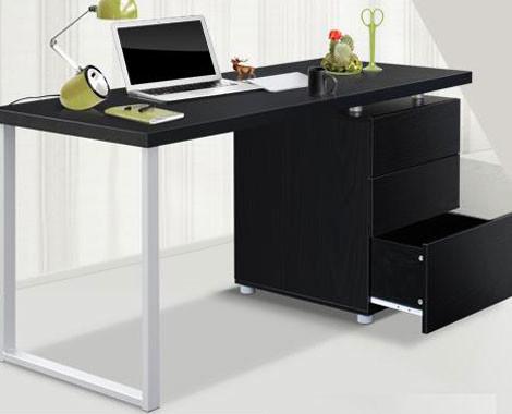 stylish white or black computer desk - grabone store
