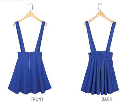 High-Waisted Overall Skirt in Nine Colours - GrabOne Store