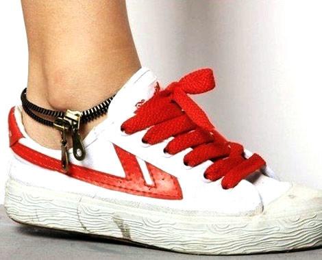 $5 for a Vintage Zipper Anklet