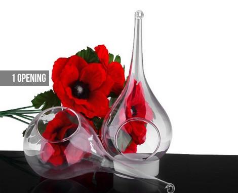 Water Drop Borosilicate Glass Hanging Vases Grabone Store