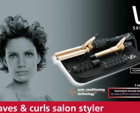 Amazing Vidal Sassoon Waves Curls Salon Styler Grabone Store Short Hairstyles For Black Women Fulllsitofus