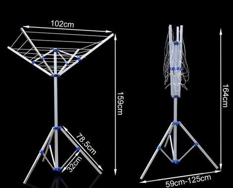 ... $35 For A Portable Umbrella Clothesline With Tripod Base