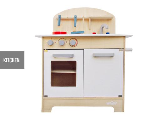 kids' wooden kitchen or tool bench - grabone store